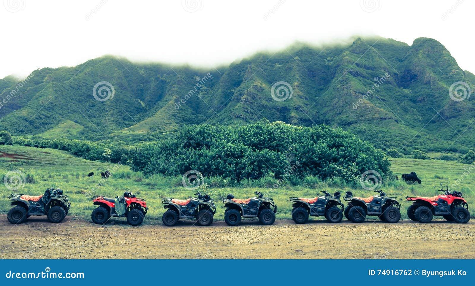 ATVs en fila