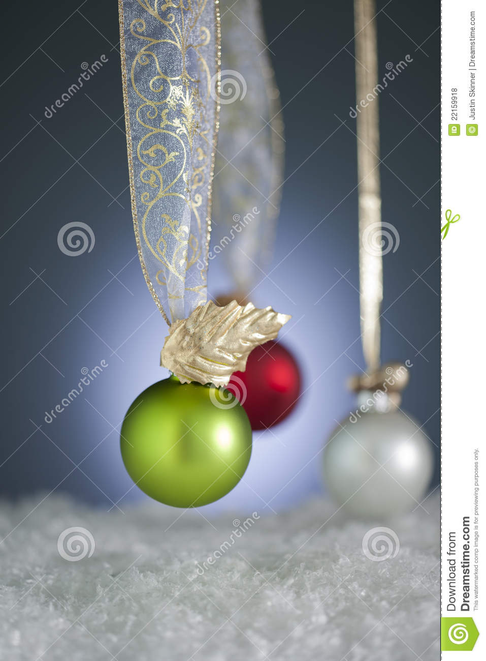 Atypical Christmas Ornaments Royalty Free Stock Photos