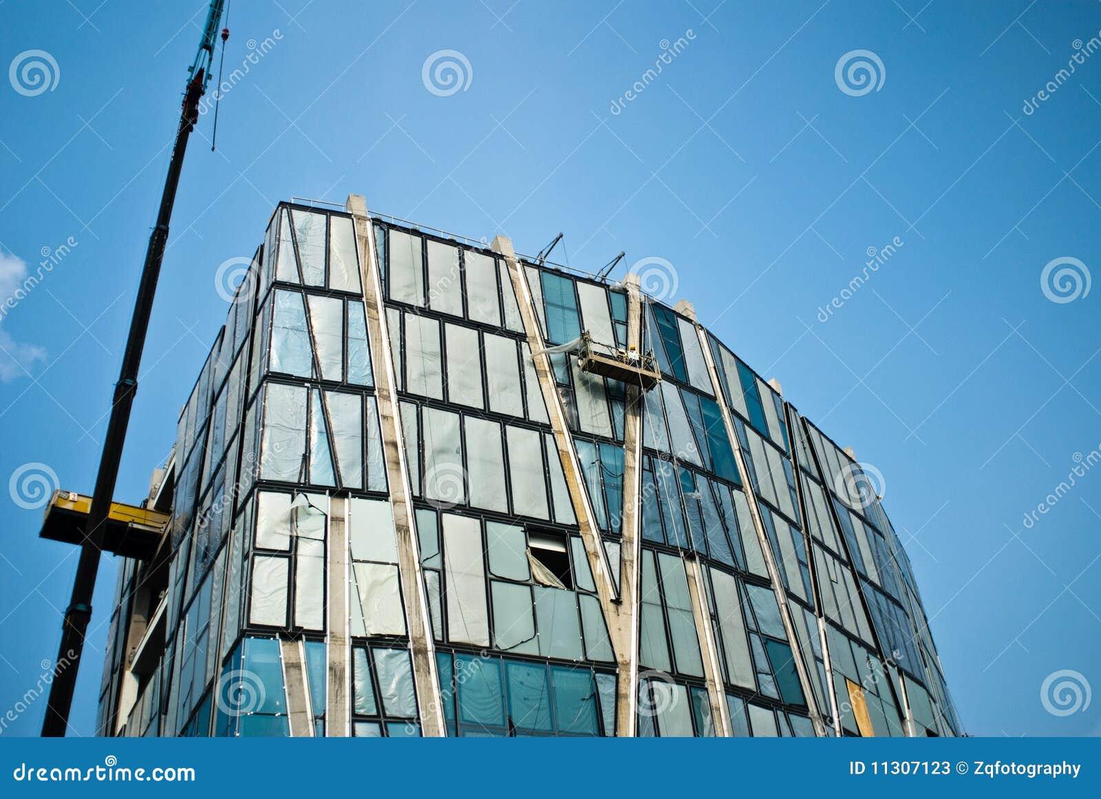 Außenansicht der modernen Architektur