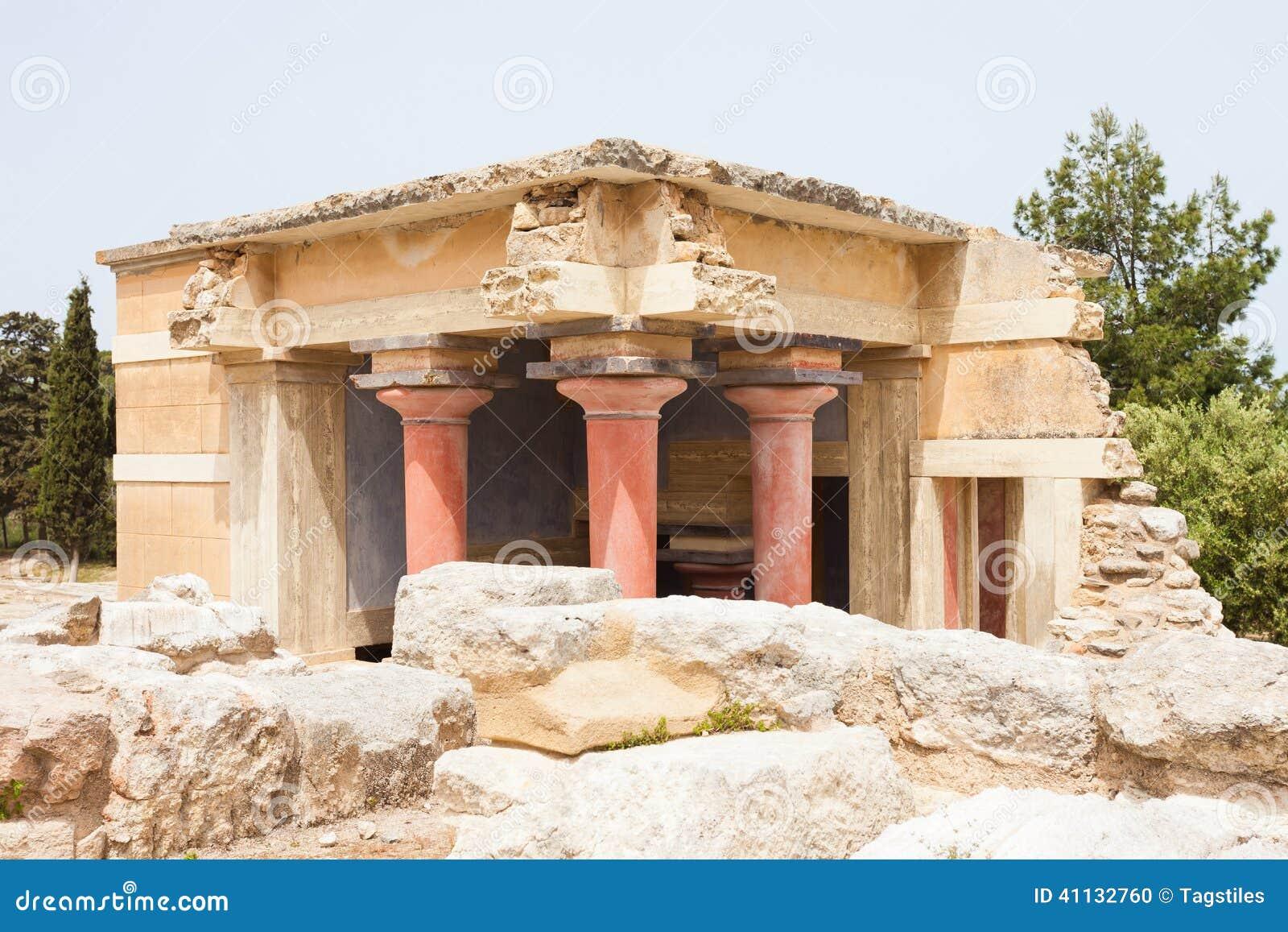 Download Außengebäude von Knossos stockfoto. Bild von anblick - 41132760