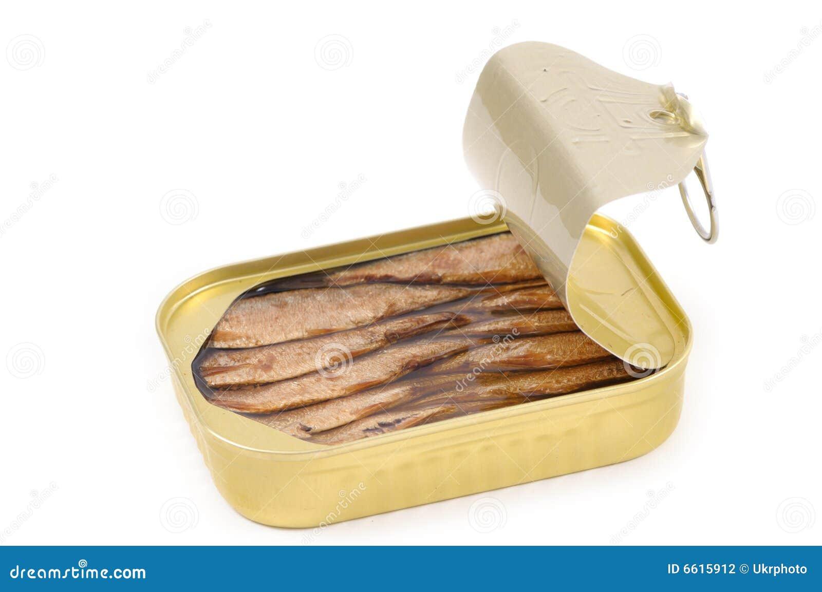 Au-dessus des sardines en boîte