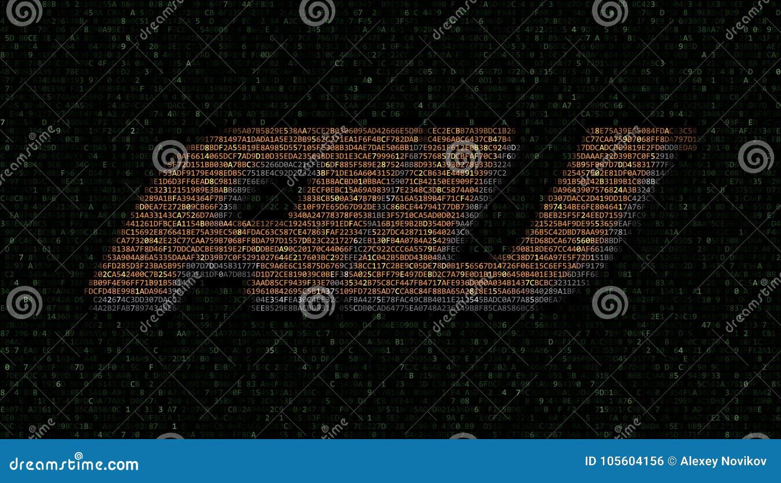 Au Mobile Phone Company Logo Made Of Hexadecimal Symbols On Computer