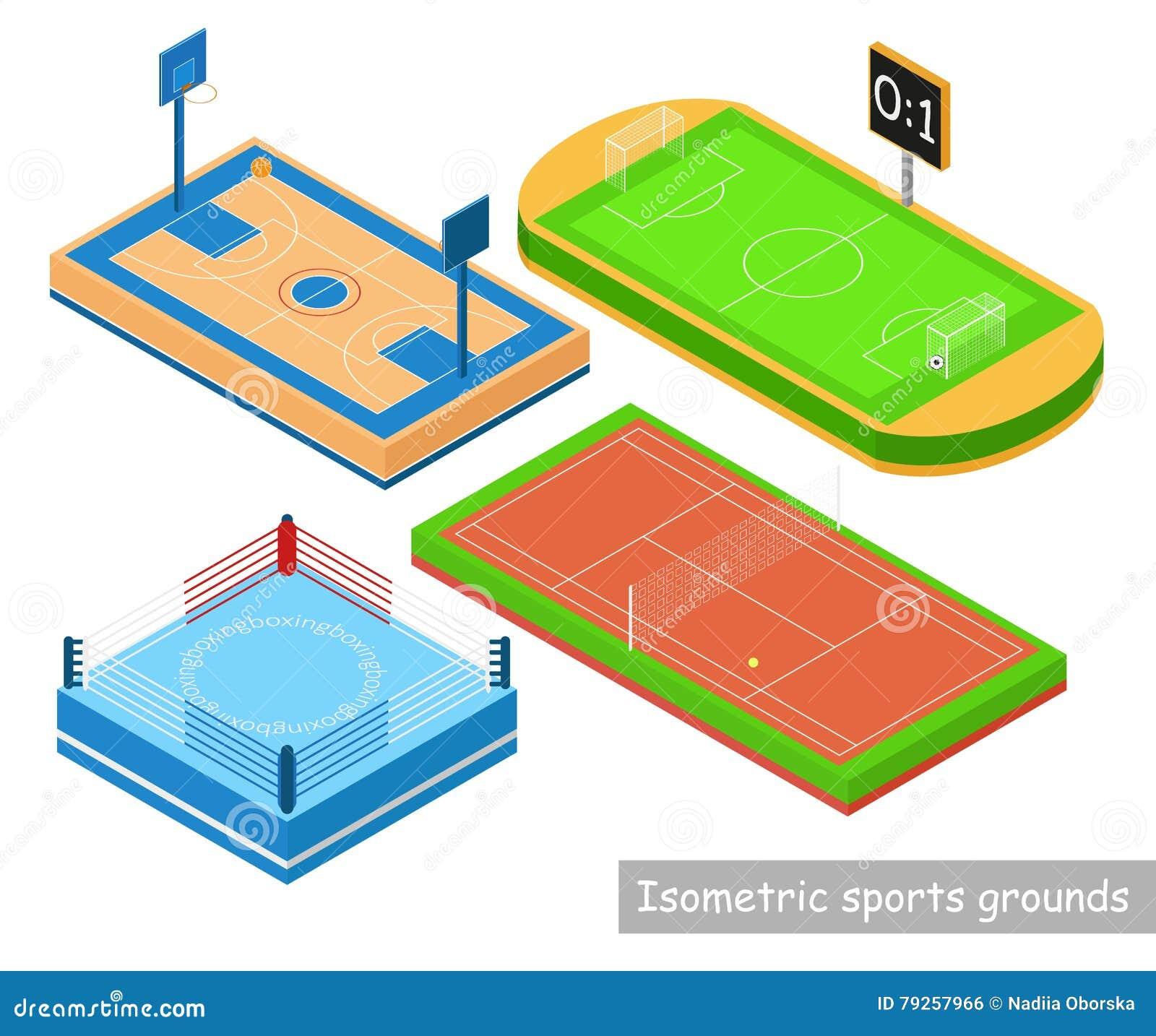 Sol Terrain De Basket au sol de sports isomériques réglés anneau, courts de tennis