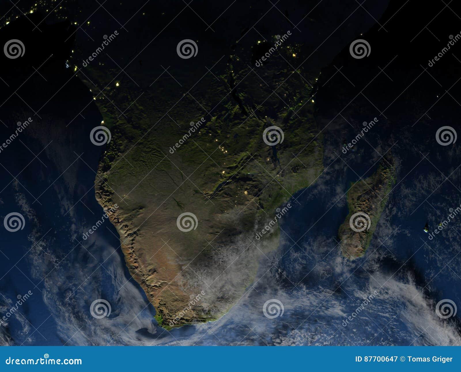 Au sud de l Afrique la nuit sur terre de planète