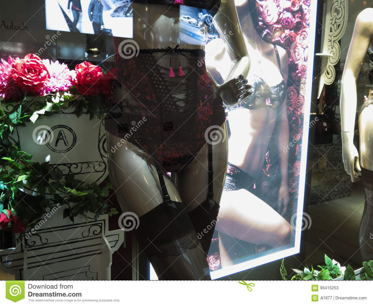 ebd84f3d1c6 Aubade brand store editorial stock photo. Image of romance - 95415253
