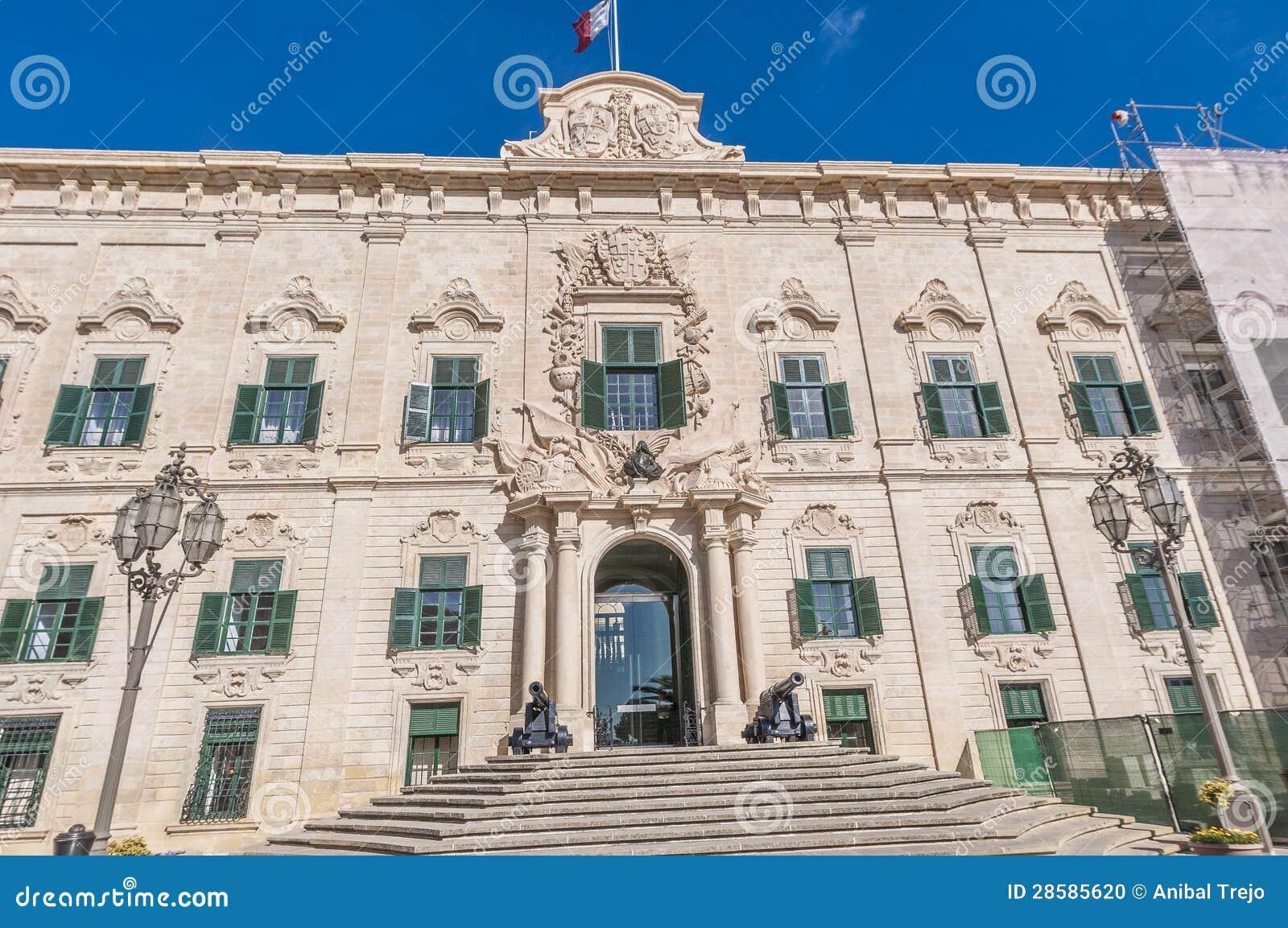 The Auberge De Castille In Valletta, Malta Stock Photo - Image of ...