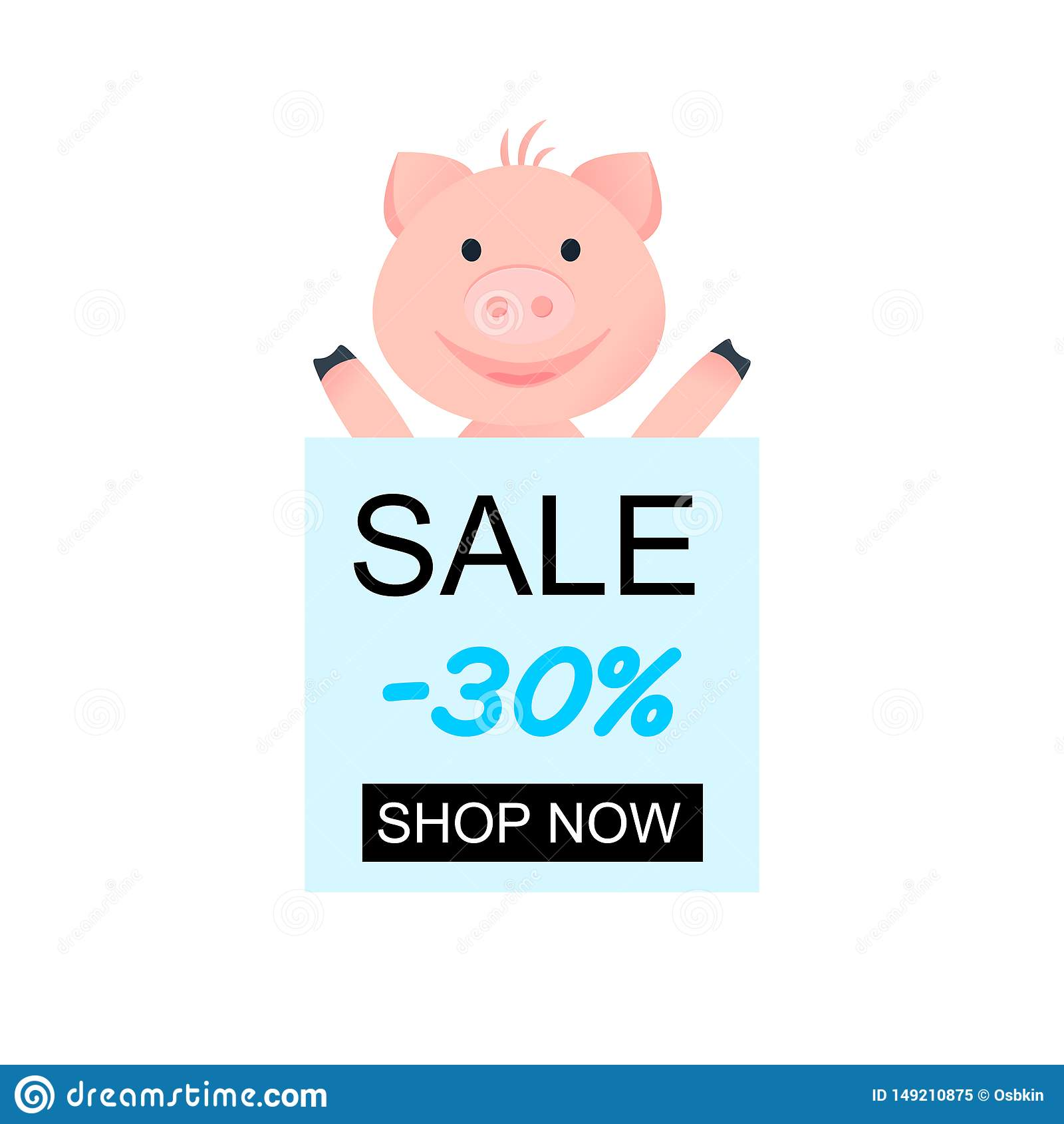 Auch im corel abgehobenen Betrag Glückliches Schwein der Karikatur für Entwurf