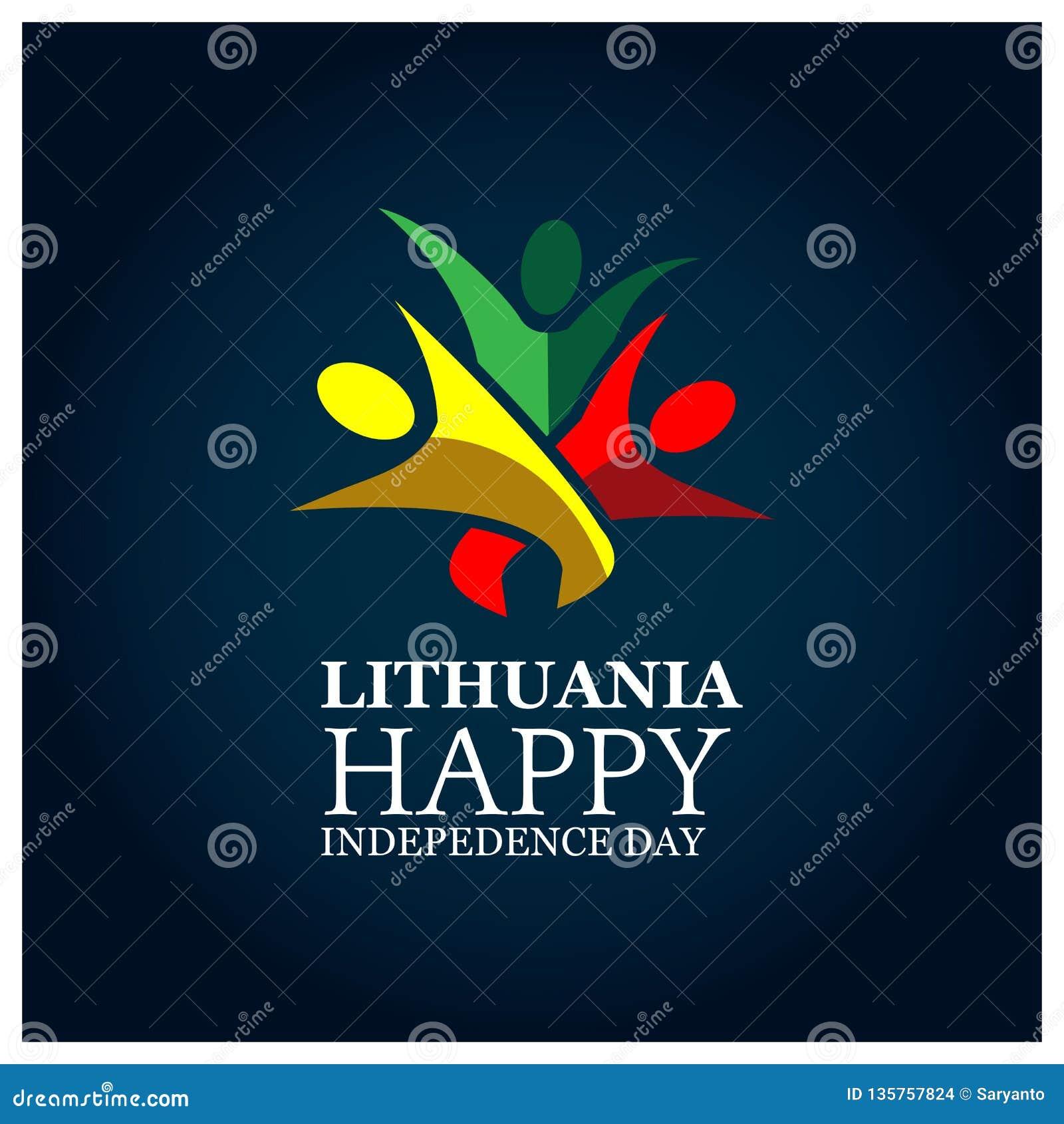 Auch im corel abgehobenen Betrag Hintergrund Litauen-Nationalfeiertag Designe für Poster, Hintergründe, Karten, Fahnen, Aufkleber