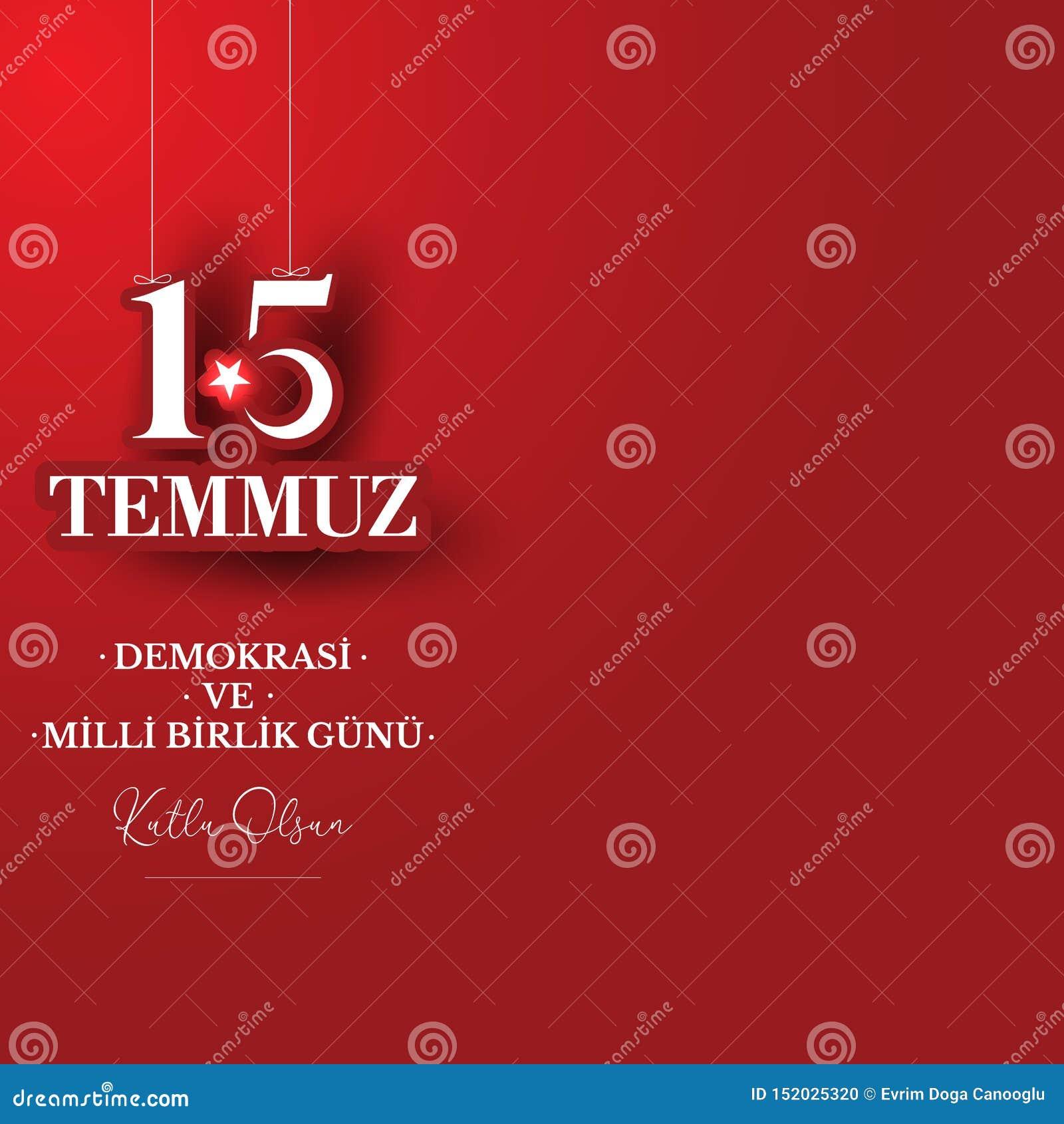 Auch im corel abgehobenen Betrag T?rkischer Feiertag Übersetzung von türkischem: Die Demokratie und der nationale Einheits-Tag vo