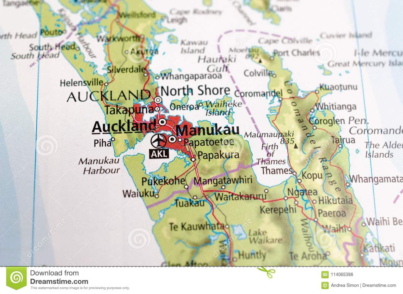 South auckland map