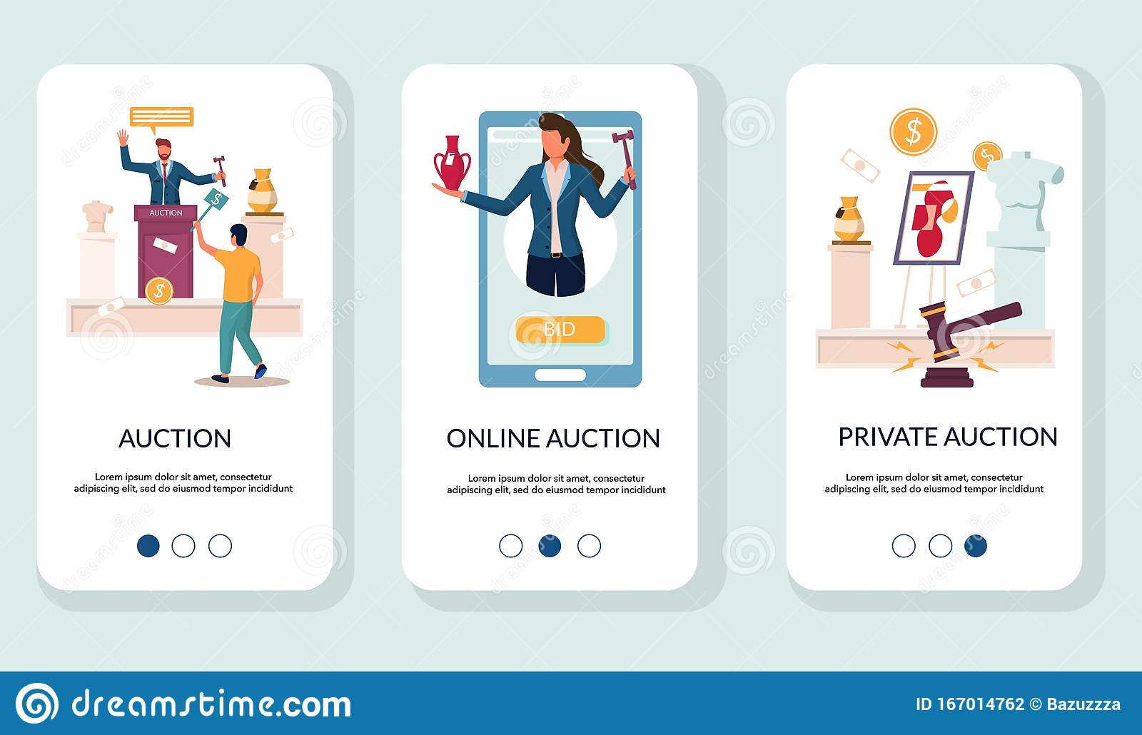 Auction Template Stock Illustrations – 21,21 Auction Template With Auction Bid Cards Template