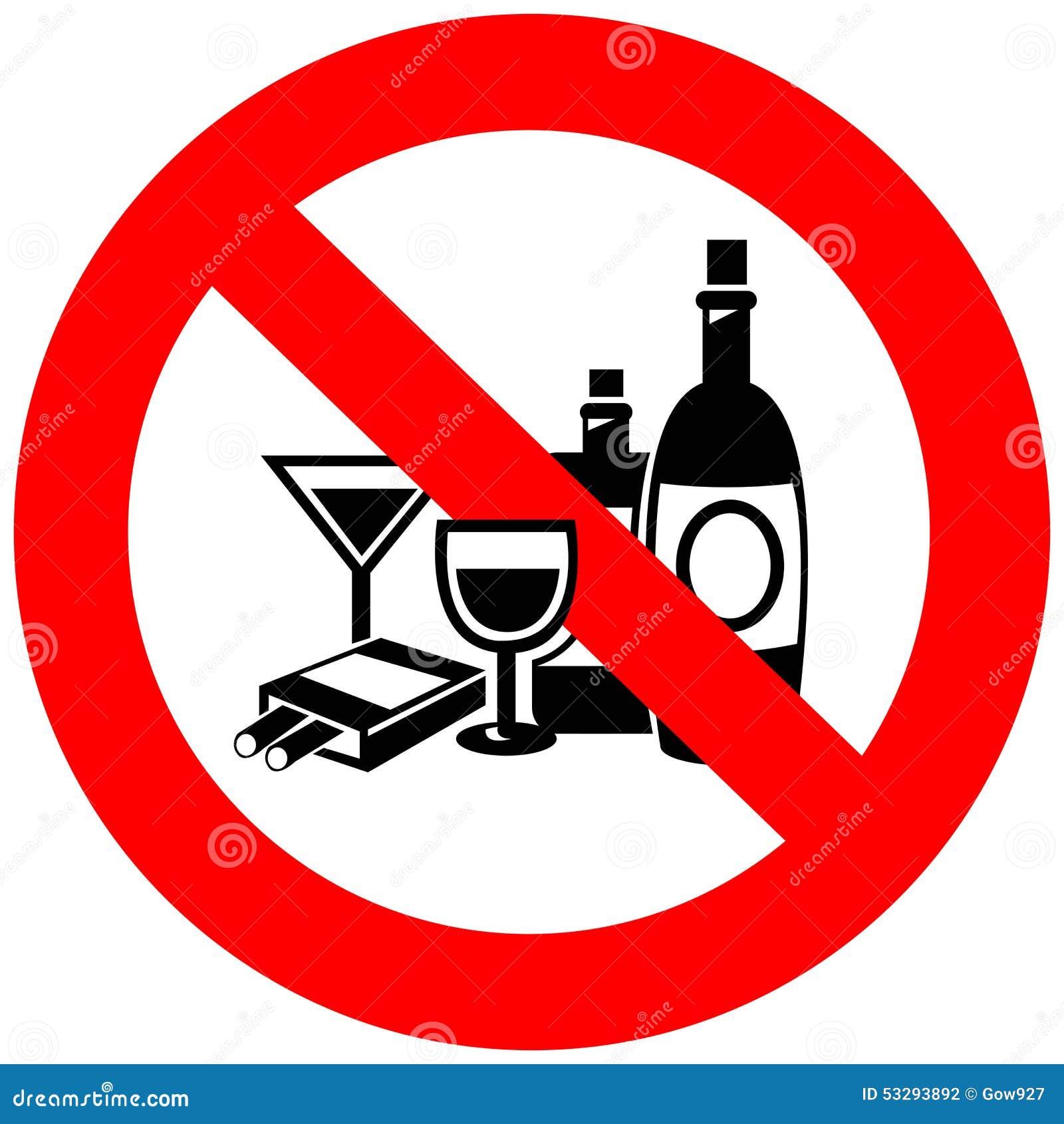 Aucun alcool et signe de tabagisme