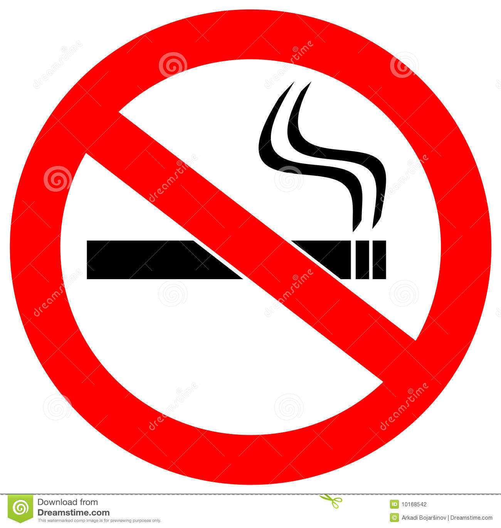 Aucun fumage de signe