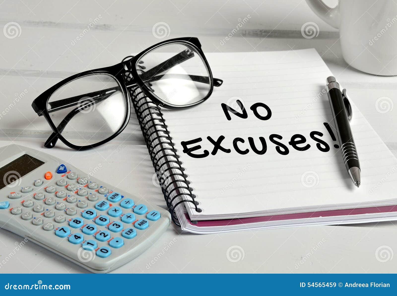 Aucun mot d excuses