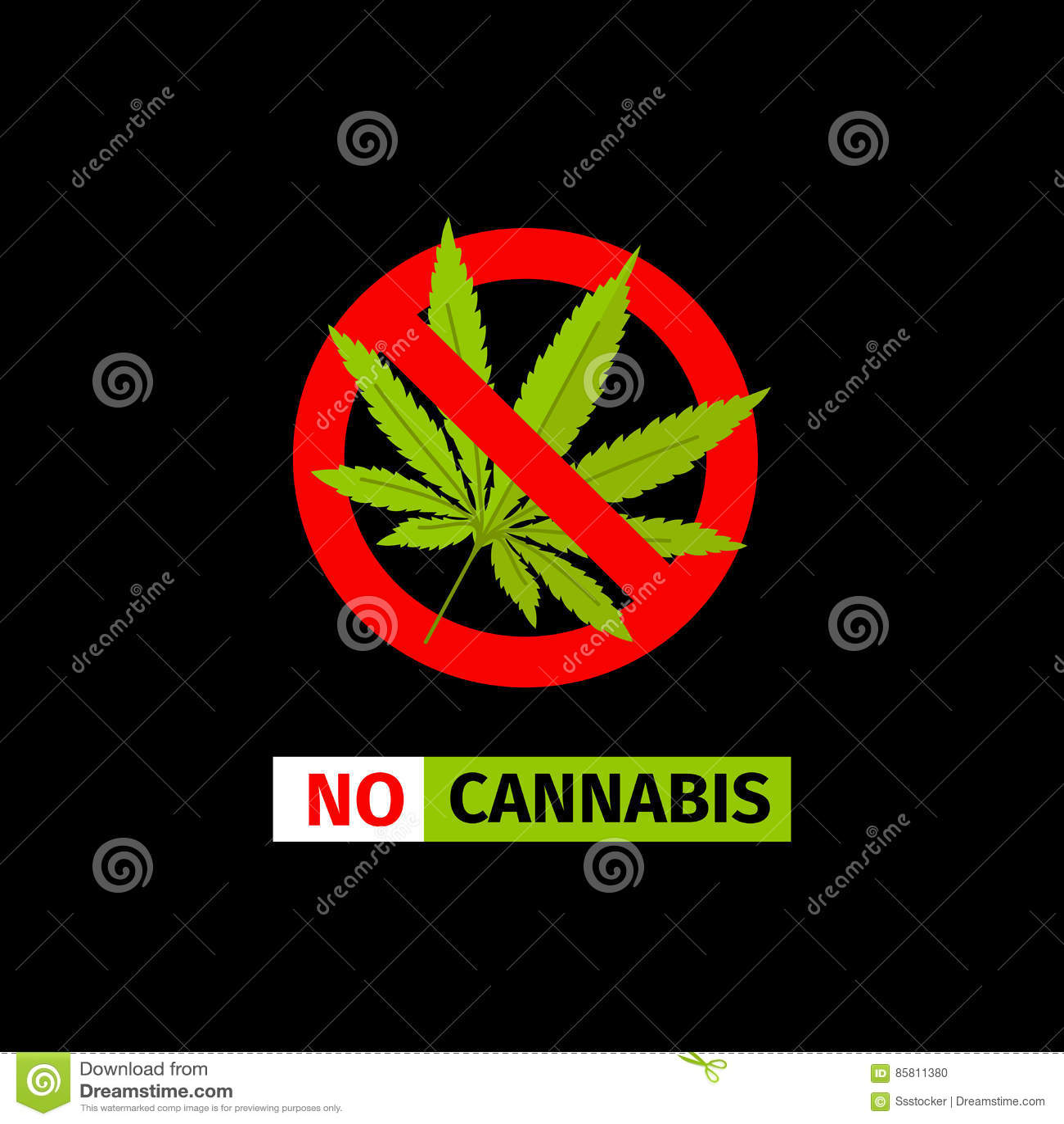 Aucun signe de cannabis