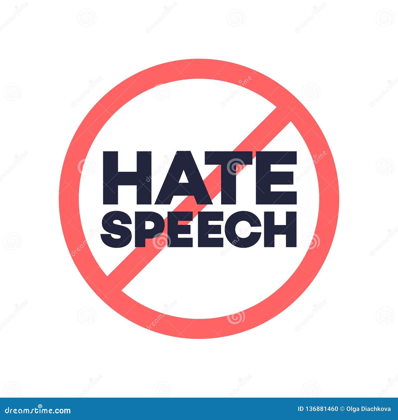 Aucun signe de la parole de haine