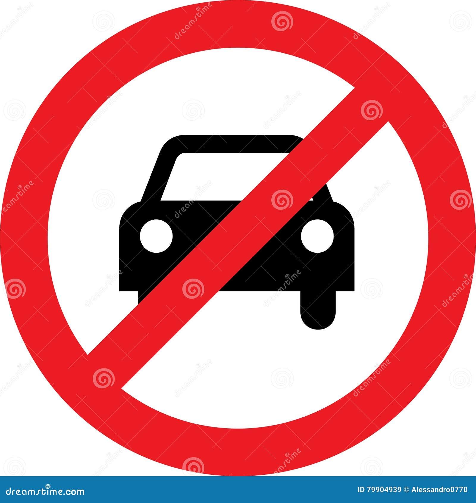 aucun signe de voiture ou de stationnement interdit illustration stock illustration du. Black Bedroom Furniture Sets. Home Design Ideas