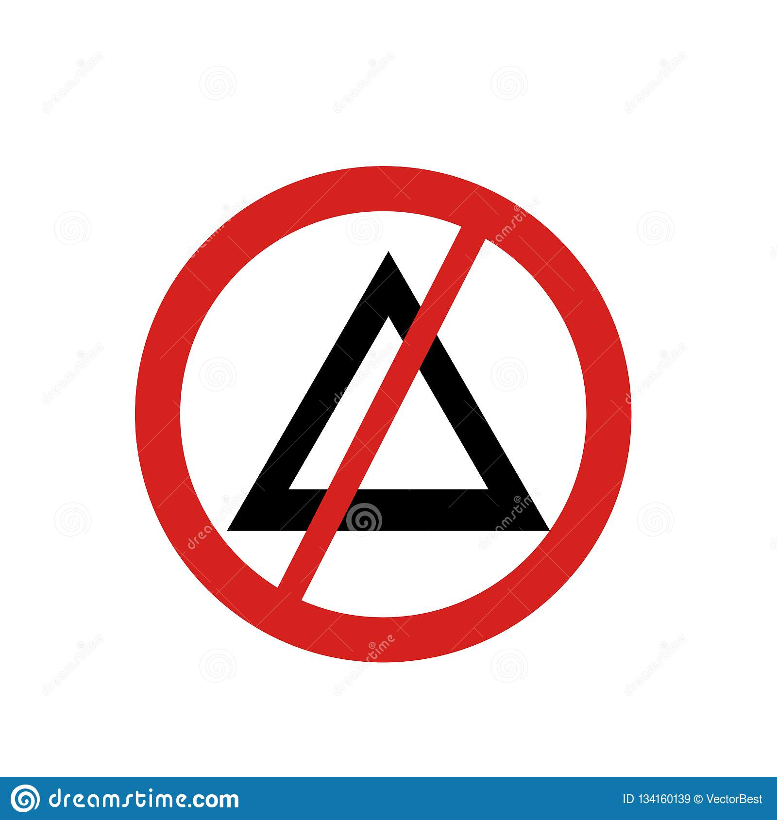 Aucun signe et symbole de vecteur d icône de blanchiment d isolement sur le fond blanc, aucun concept de logo de blanchiment