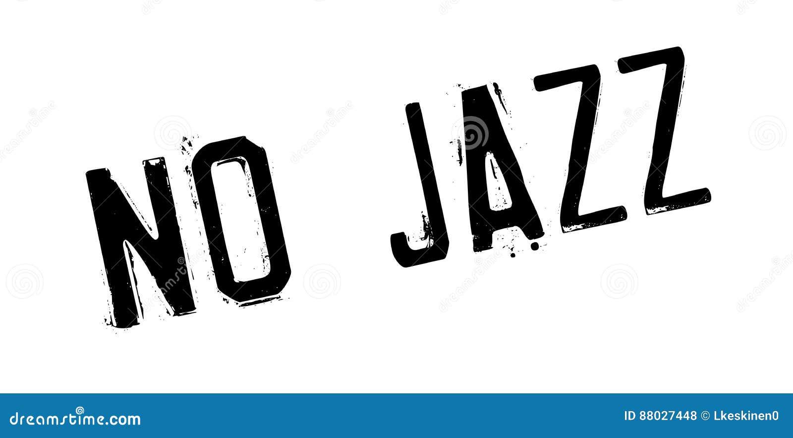 Aucun tampon en caoutchouc de jazz