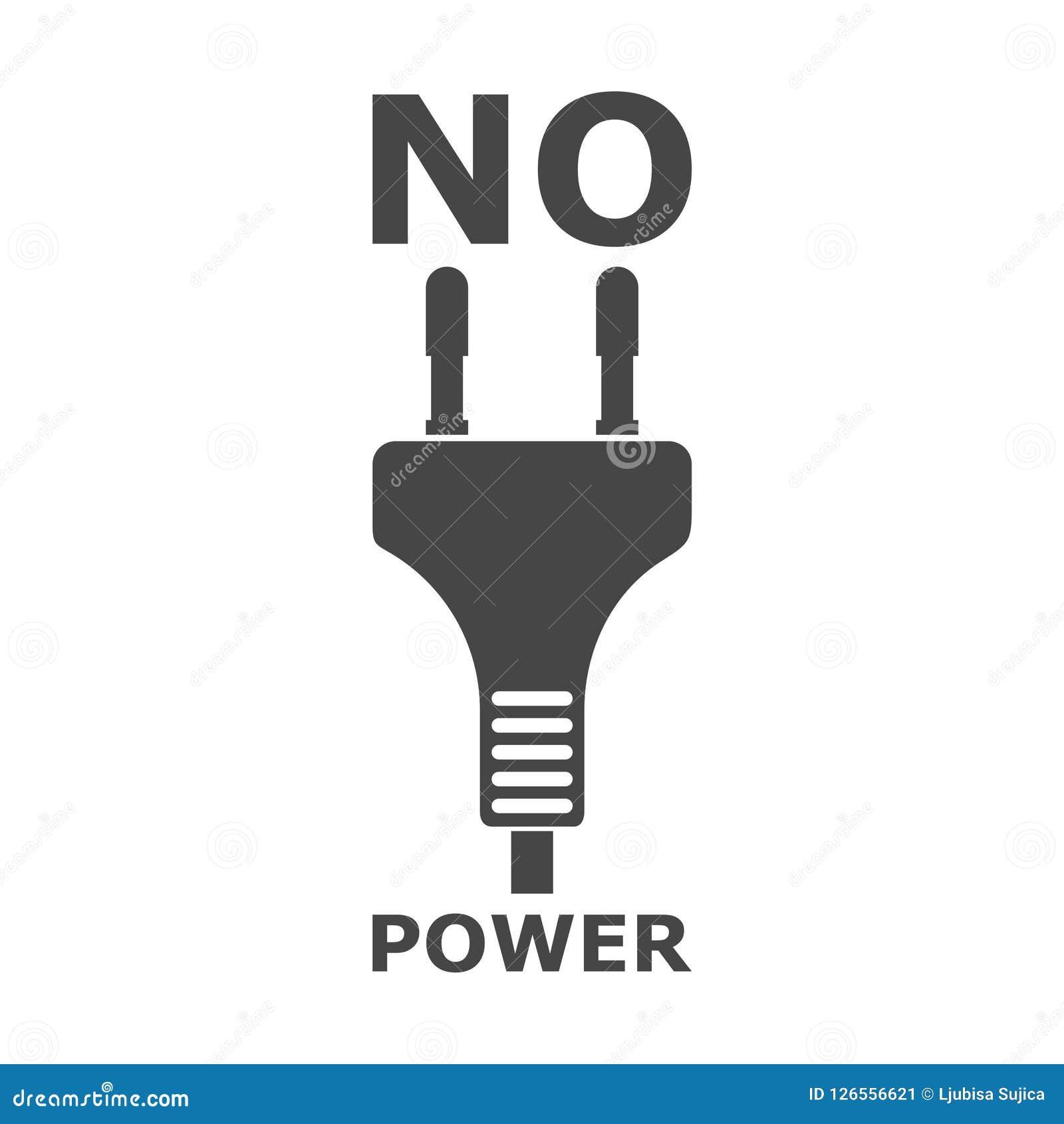 Aucune icône de puissance