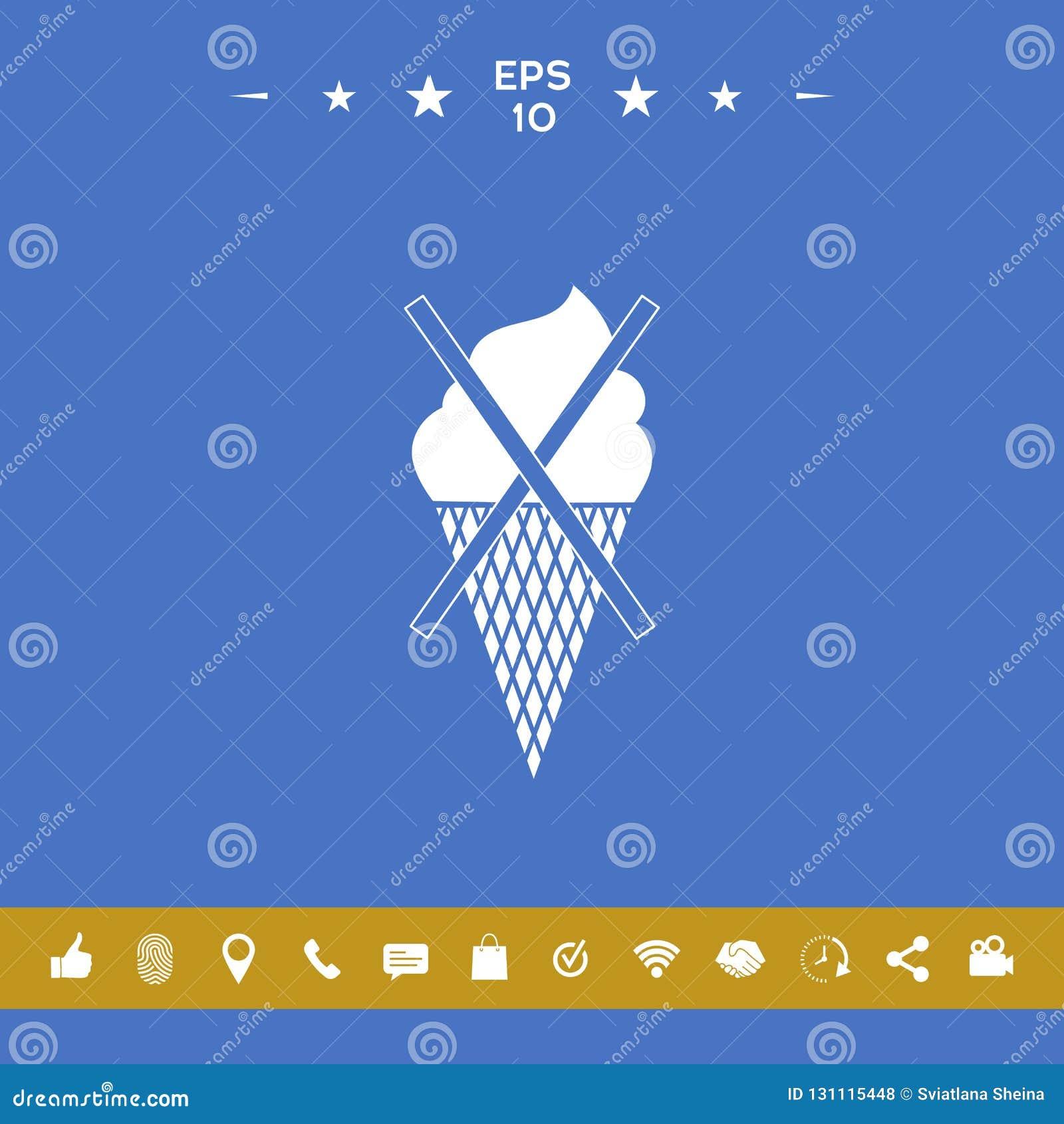 Aucune icône de symbole de crème glacée