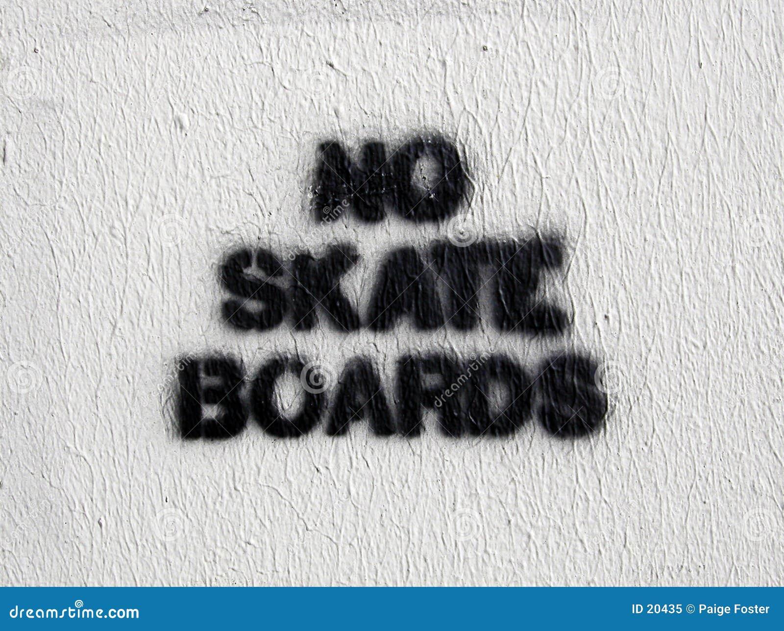 Aucuns panneaux de patin