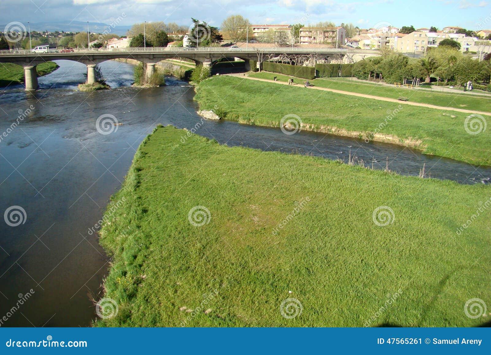 Aude-Fluss in Frankreich