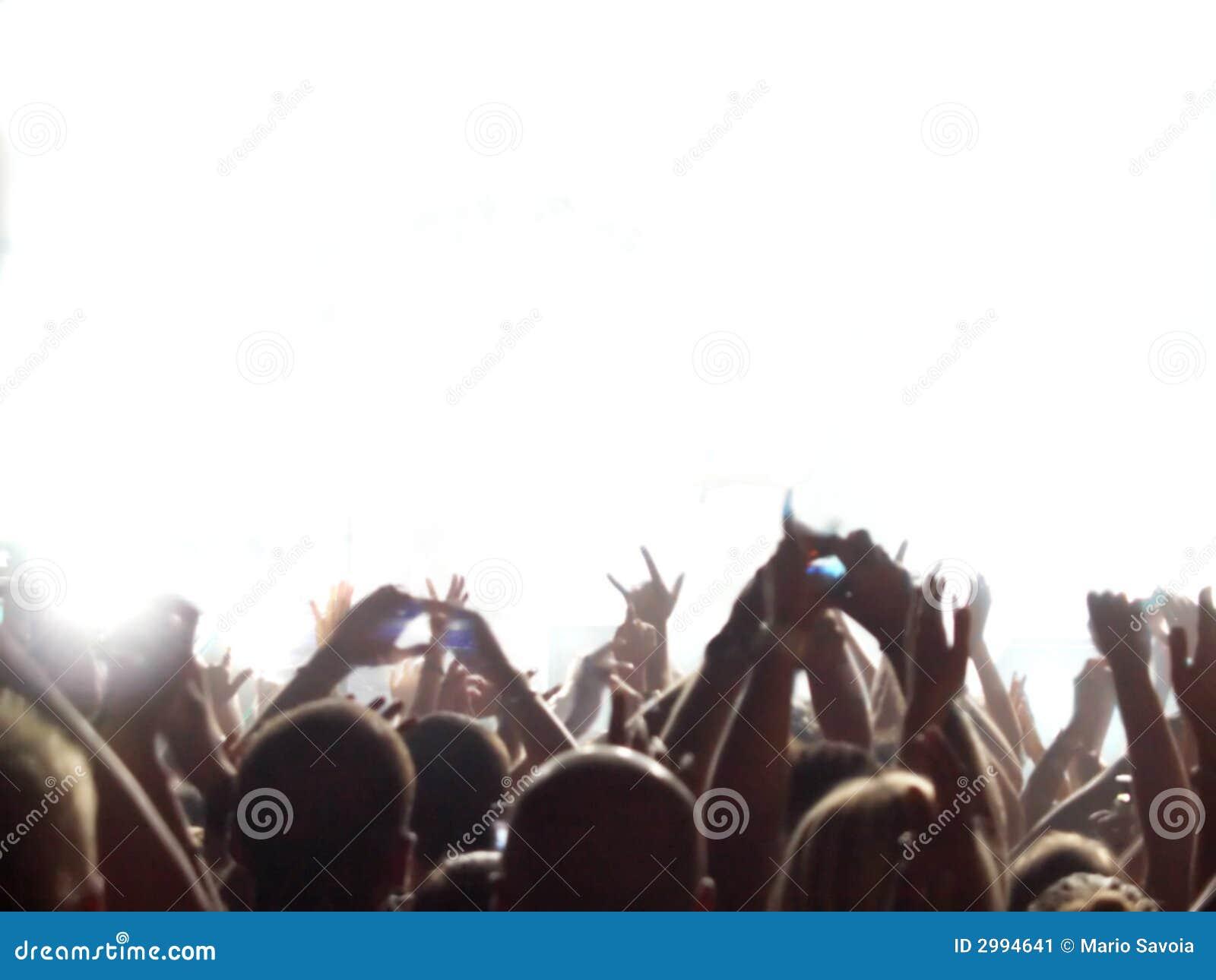 Audiência do concerto de rocha
