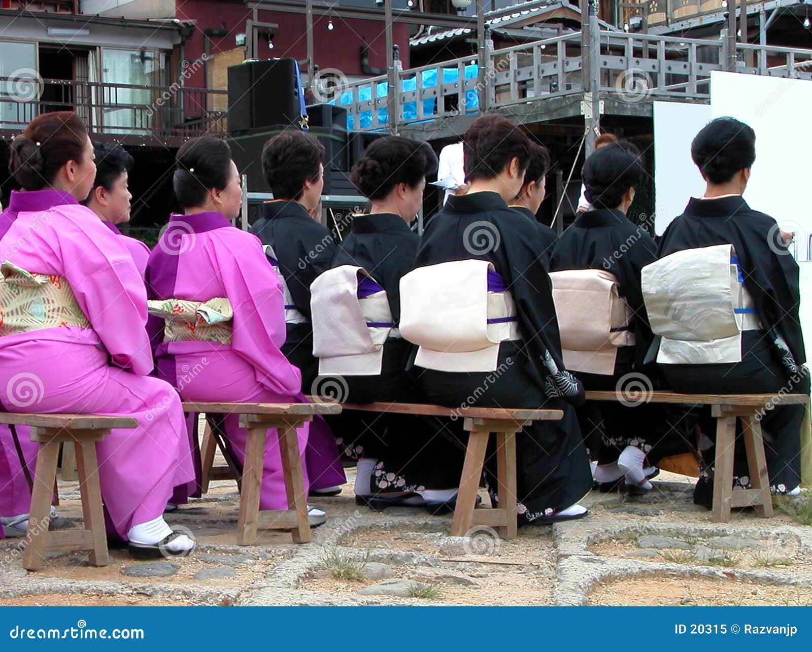 Audiência do japonês das mulheres