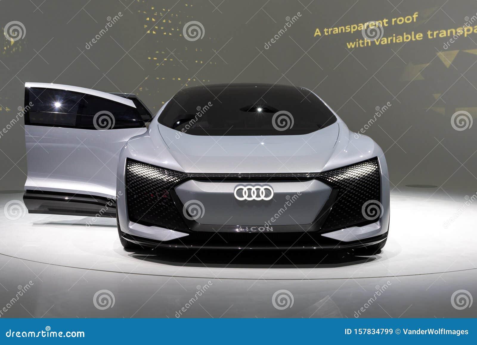 Audi Aicon Autonomous Electric Car Editorial Stock Image Image Of Concept Cars 157834799