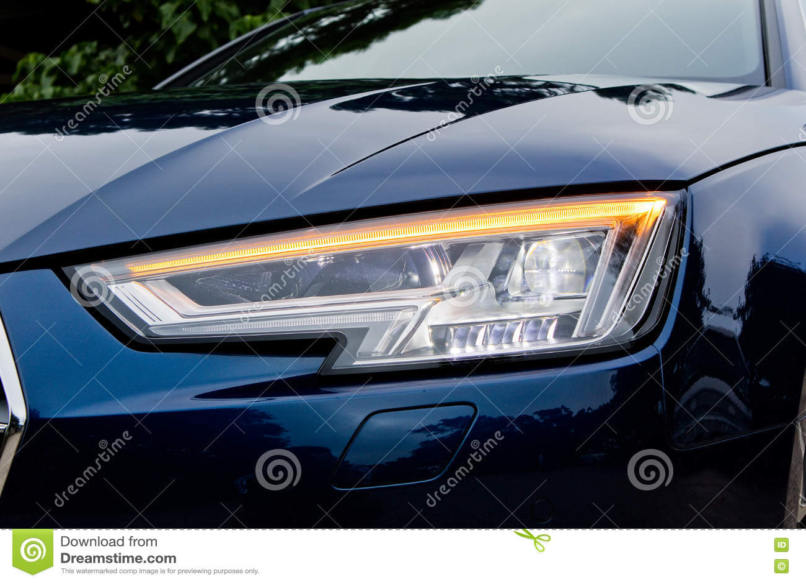 Audi A4 Avant 45 Tfsi Quattro Head Light Editorial Stock Photo