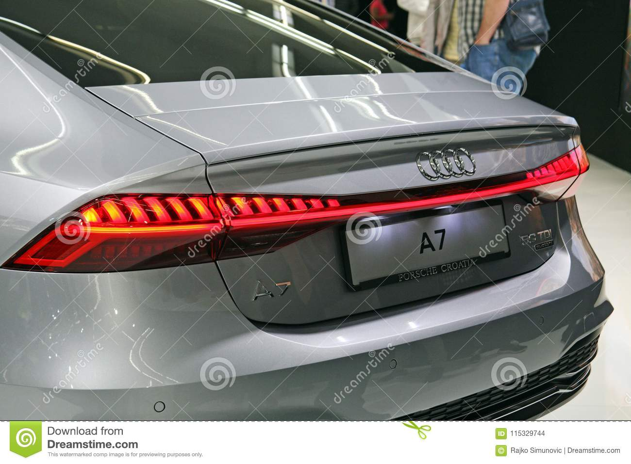 Audi A7 Back Side Editorial Stock Image Image Of Zagreb 115329744