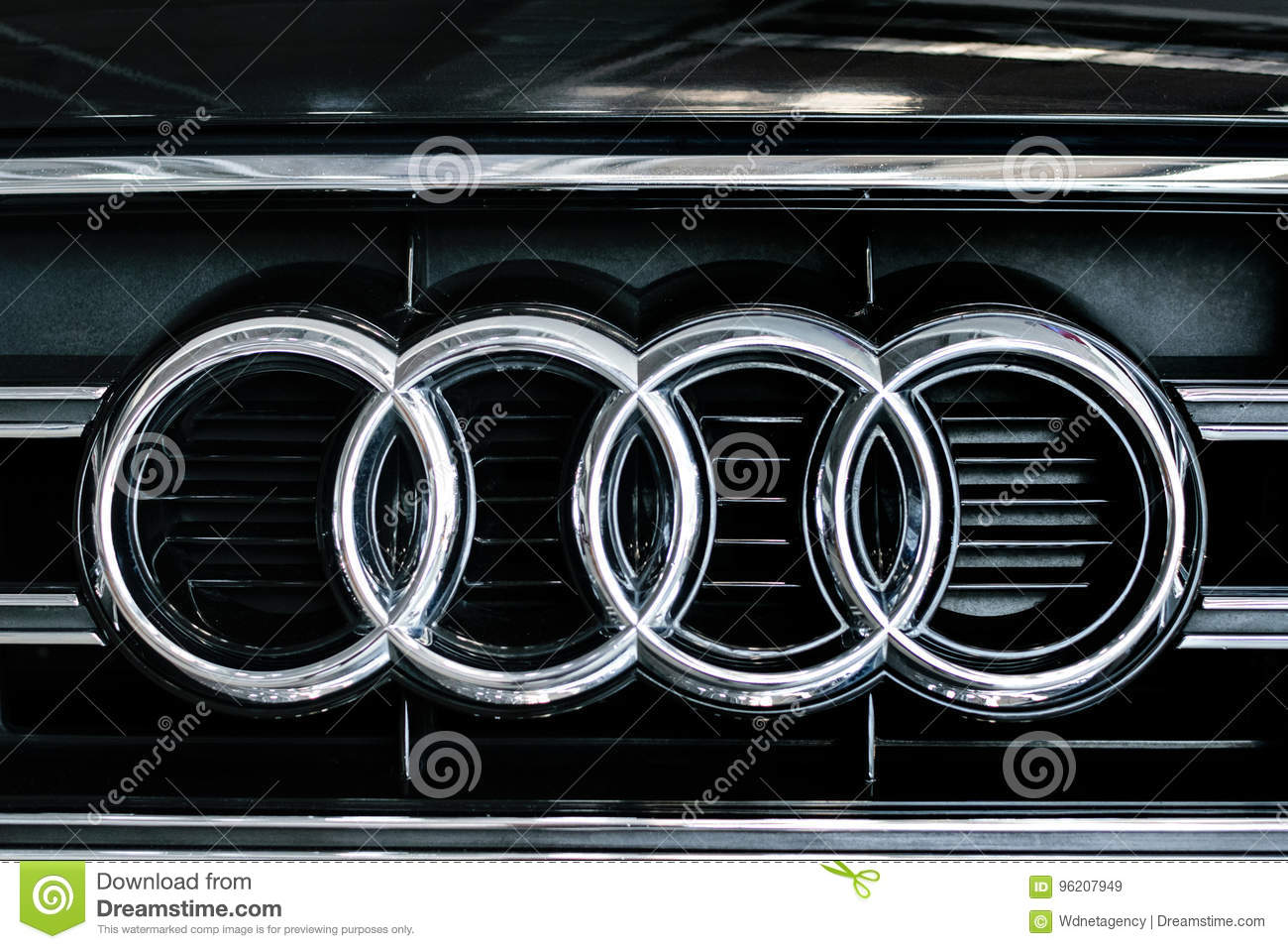 Audi Car Sign Close Up Editorial Stock Image Image Of Editorial
