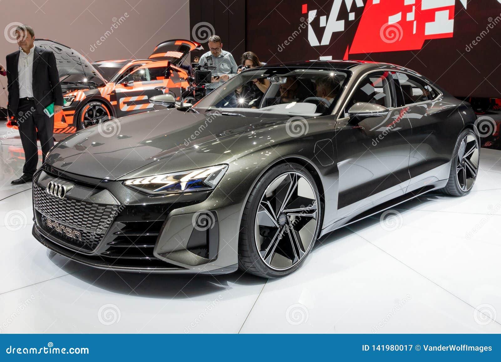 Audi E-Tron GT concept car editorial photography. Image of ...