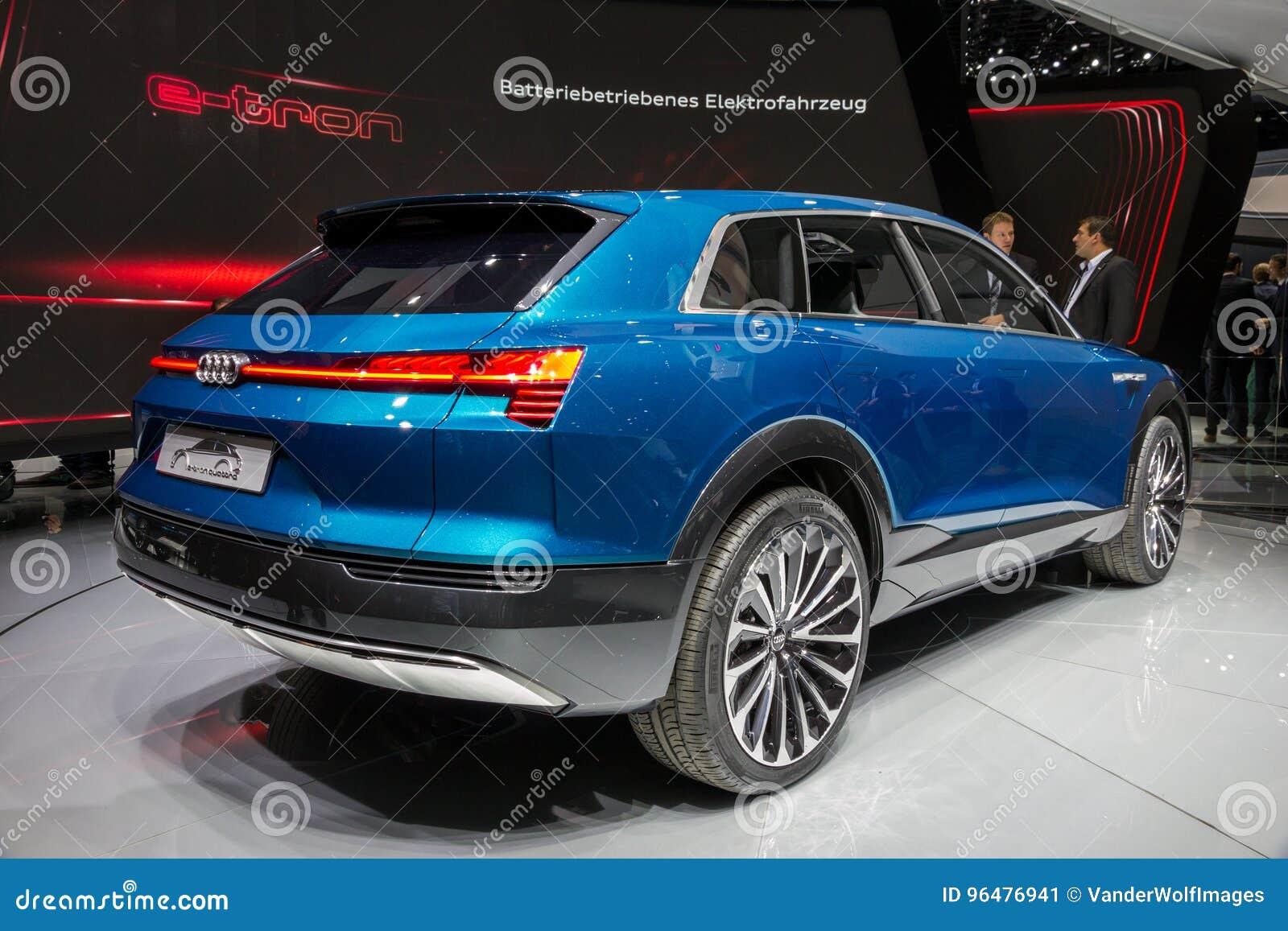 Audi E Tron Quattro Concept Car Editorial Photo Image Of