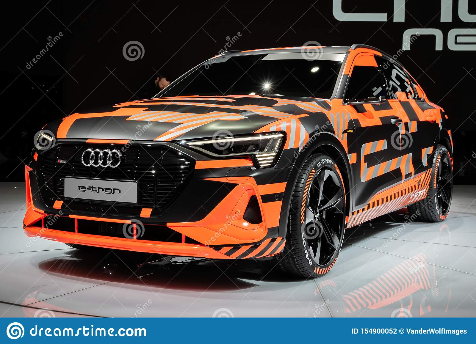 Audi E Tron Sportback Electric Suv Coupe Car Editorial Photography Image Of Camouflage Sport 154900052
