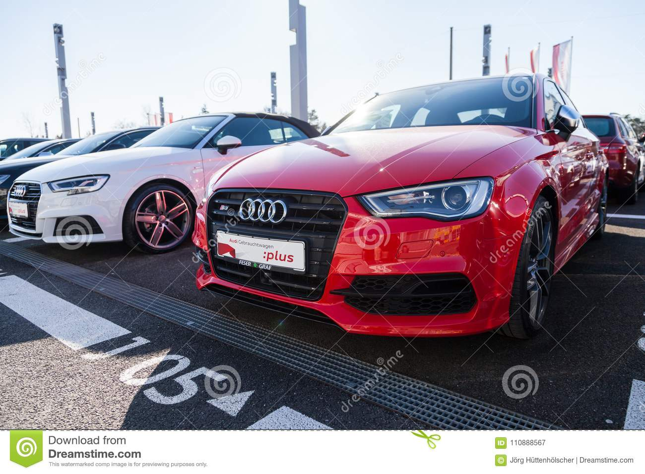 Audi Emblem On An Audi Car Editorial Photography Image Of Concept - Audi car emblem