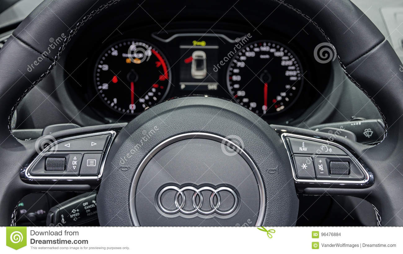 Audi A Interior Car Editorial Stock Image Image Of Industry - Audi a3 interior