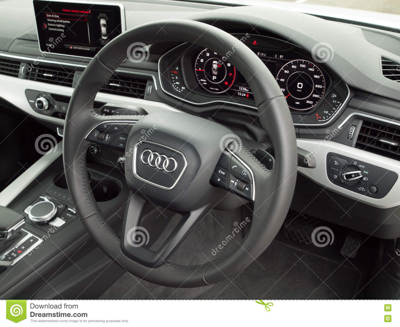 Audi A4 2016 Interior Editorial Photography Image Of Design 77146687