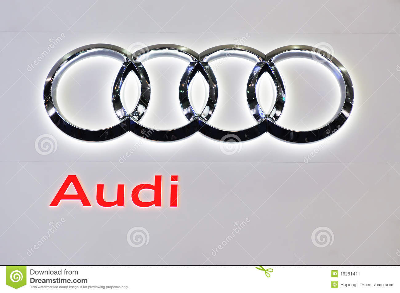 audi logo editorial photo