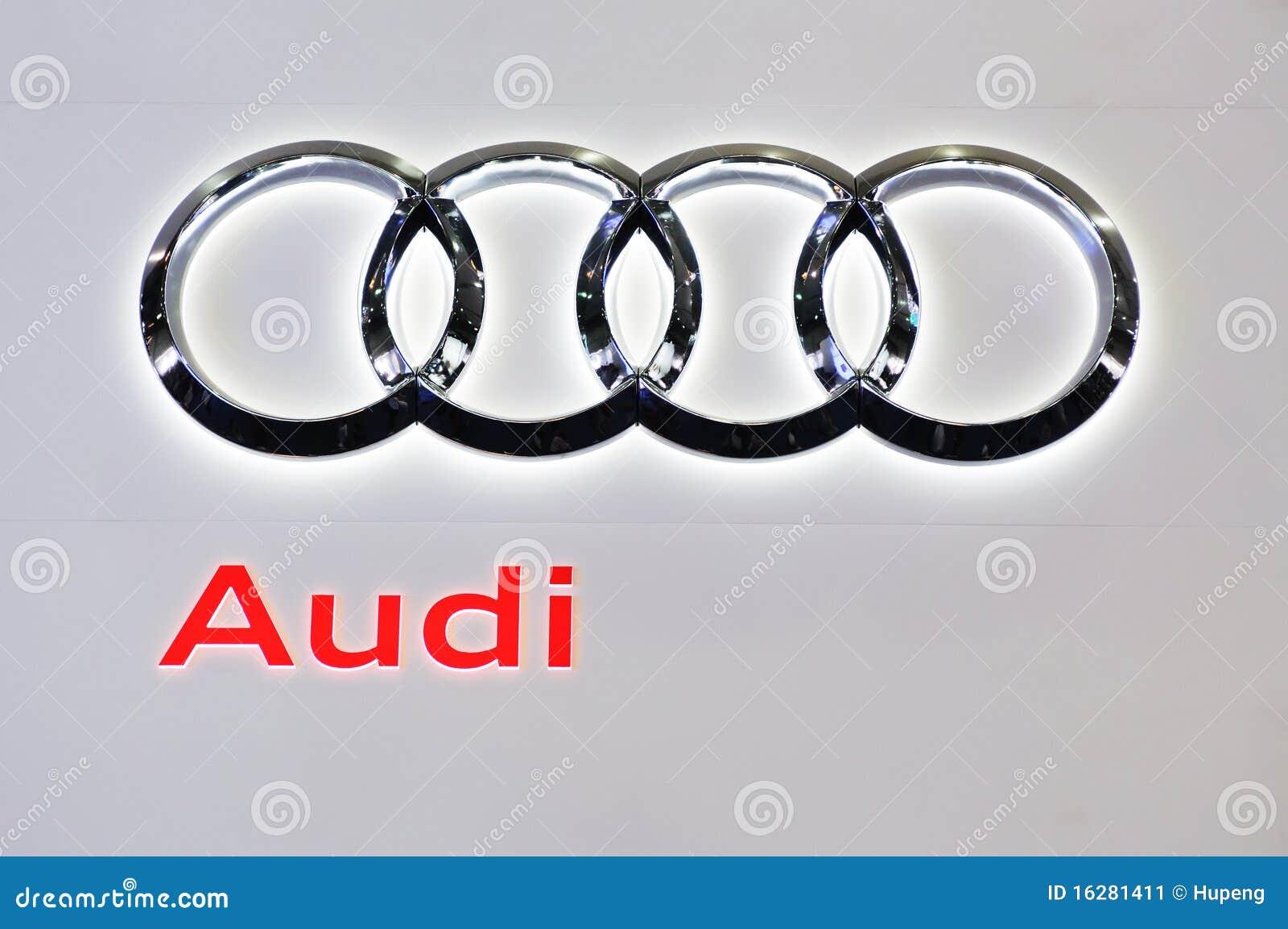 audi logo editorial photo image of modern luxury cars
