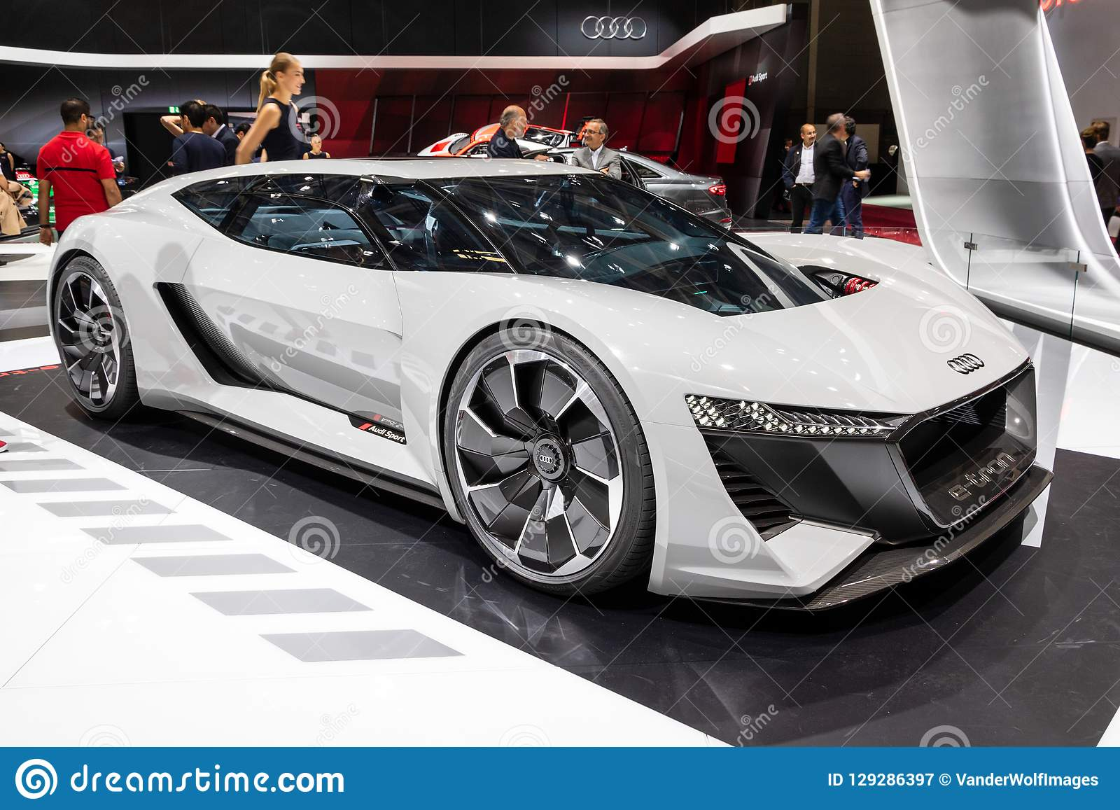 Audi Pb18 E Tron Concept Super Car Editorial Photography Image Of