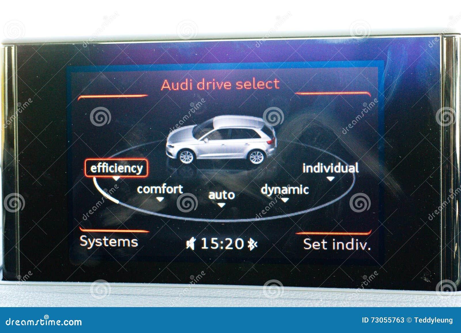 Audi Q3 2015 Dashboard Display Editorial Stock Photo Image Of