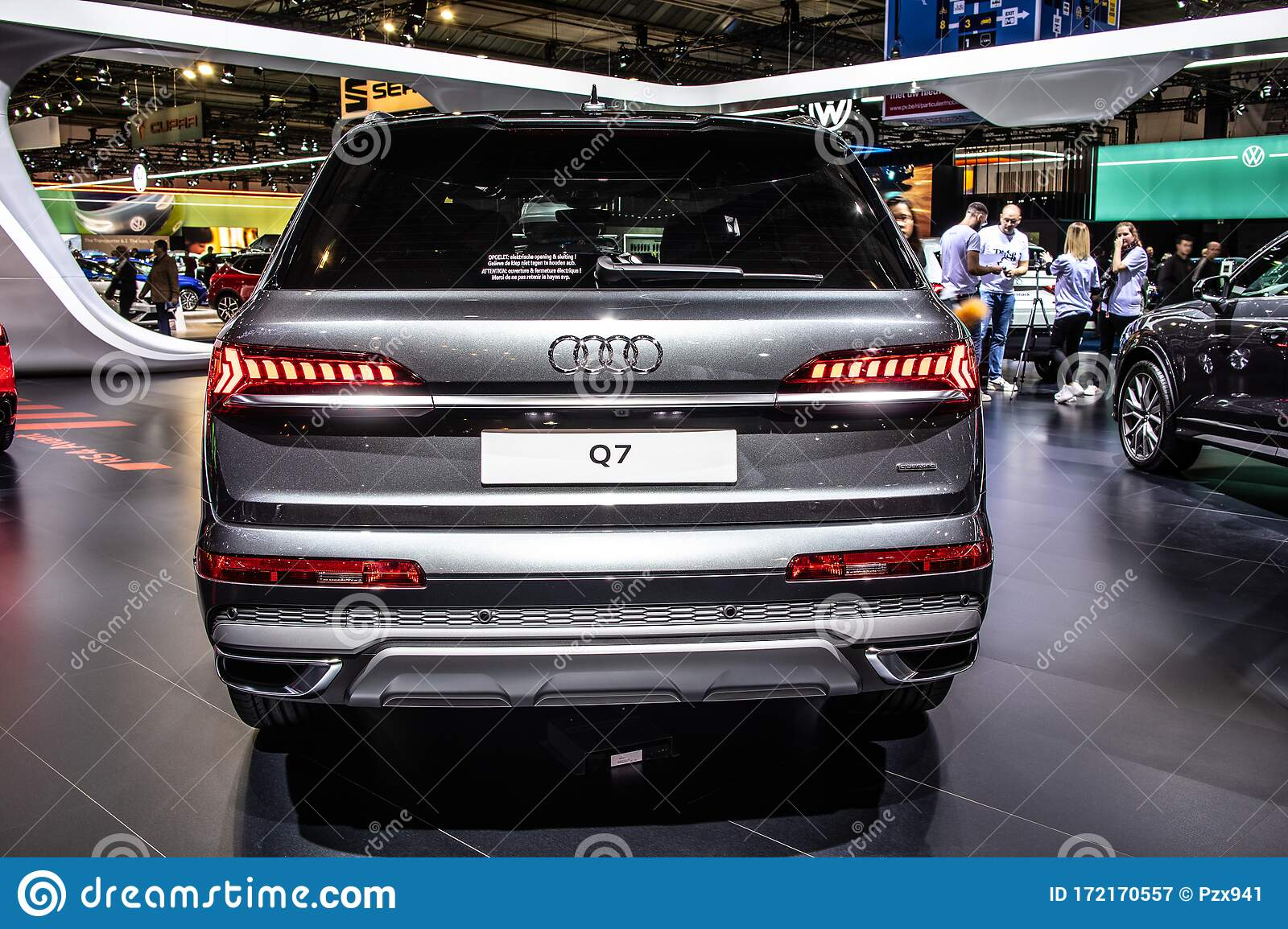 Audi Q7 50 Tdi Quattro At Brussels Motor Show Second Generation Facelift Typ 4m Suv Produced By Audi Ag Editorial Photography Image Of Autosalon Fast 172170557