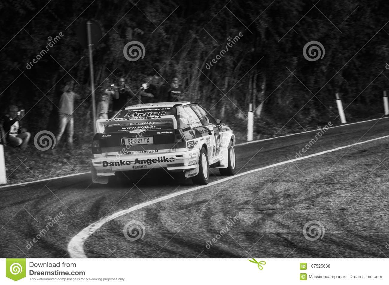 AUDI QUATTRO 1983 Old Racing Car Rally THE LEGEND 2017 The Famous ...