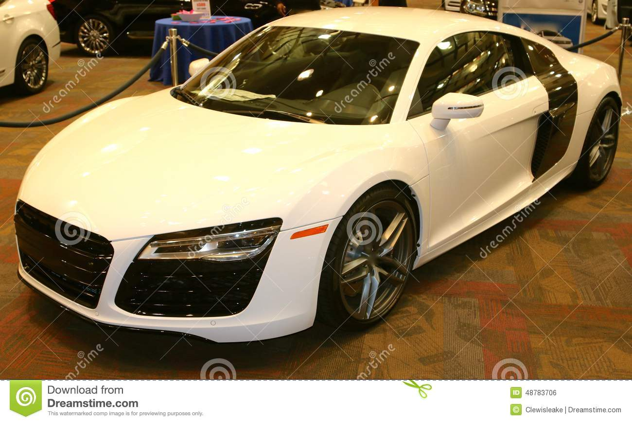 Audi R8 Exotic Sports Car 2015 Editorial Photo Image Of