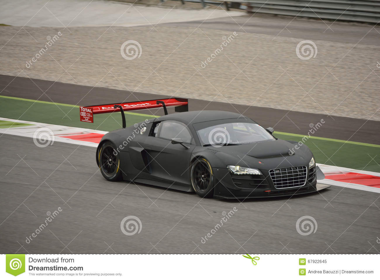 Audi R8 Lms Ultra Gt3 2016 Test At Monza Editorial Image Image Of