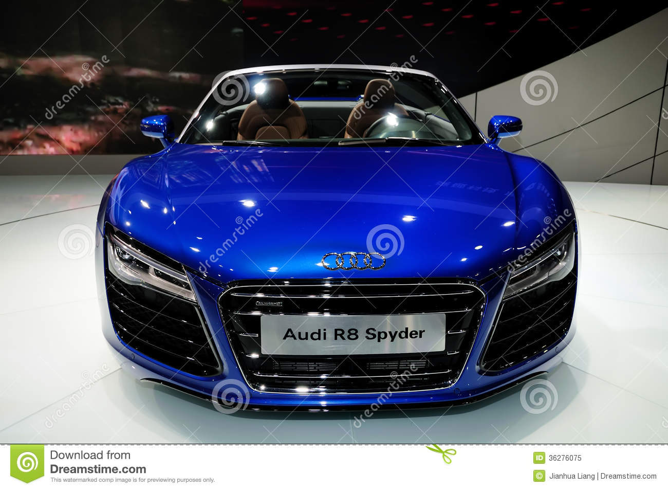Audi R8 Spyder Convertible Sports Car
