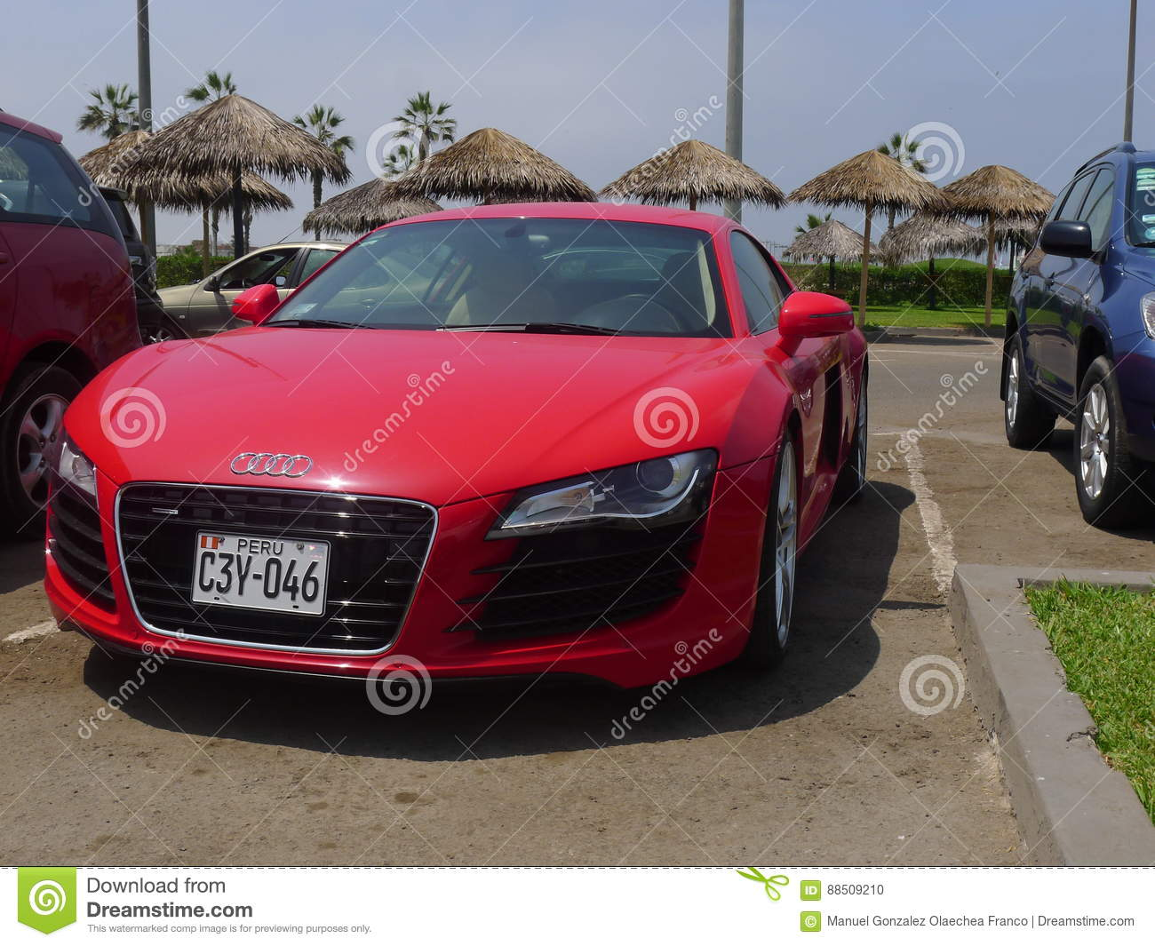 Audi R8 V8 Fsi Coupe Parked In Chorrillos Lima Editorial Image Image Of Chrome Horizontal 88509210