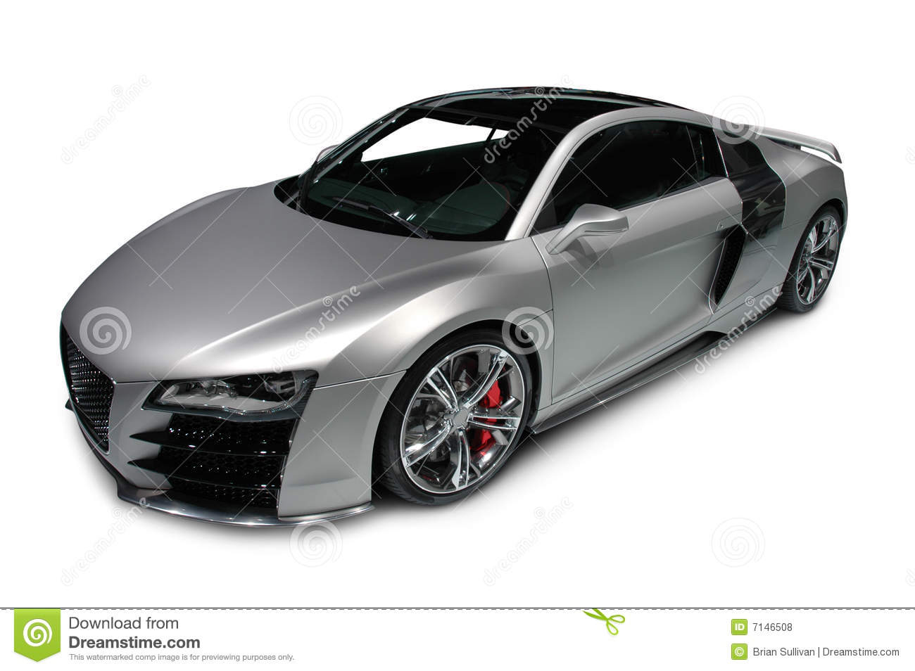 audi r8 auf wei em hintergrund lizenzfreie stockfotos bild 7146508. Black Bedroom Furniture Sets. Home Design Ideas